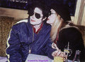 Mikee & a woman - michael-jackson photo