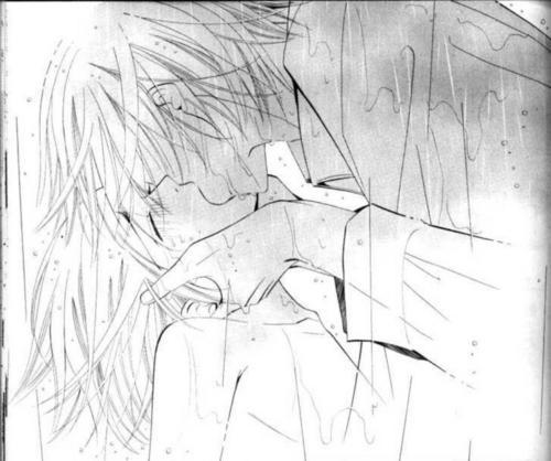 Misaki and Akihiko baciare (manga)