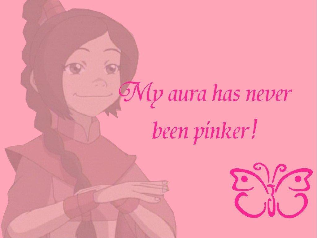 My aura has never been pinker!