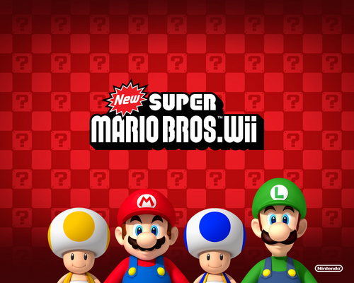 New Super Mario Bros wii fond d'écran