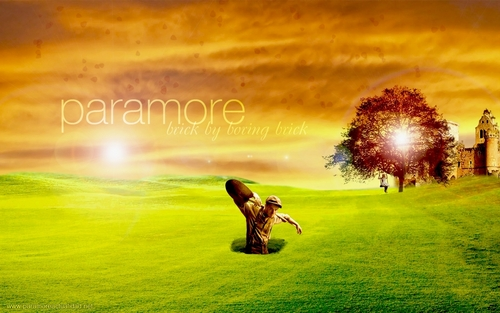 Paramore- Brick door Boring Brick achtergrond