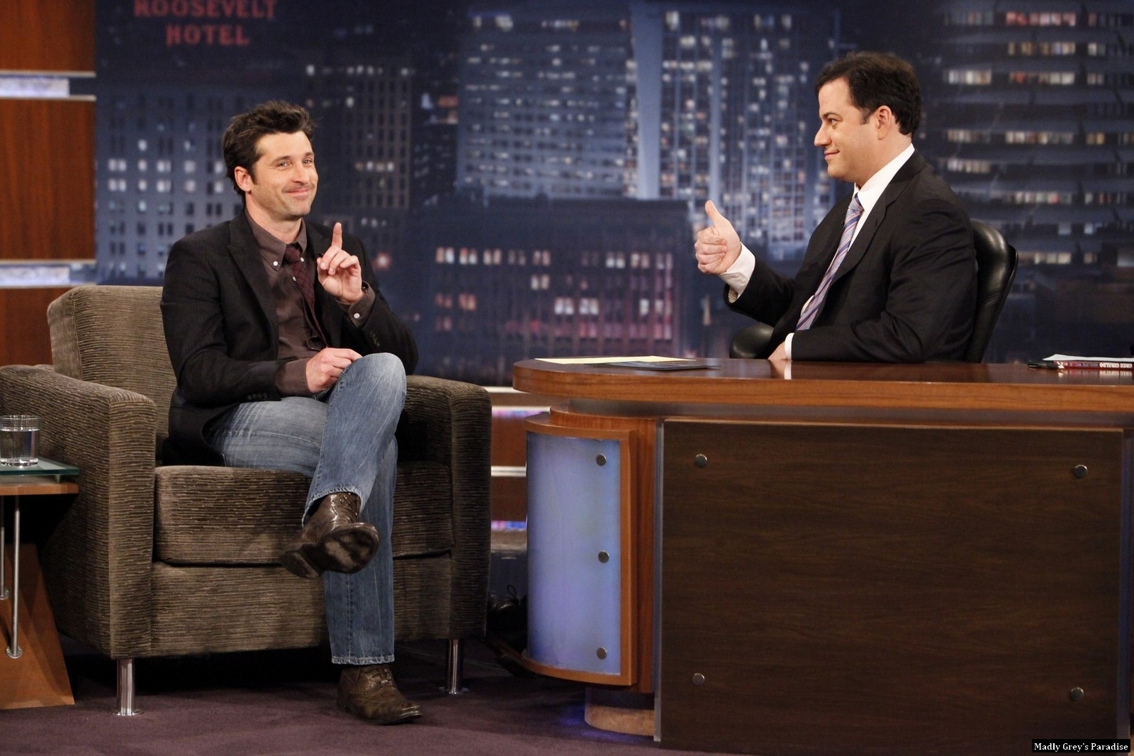 http://images2.fanpop.com/image/photos/10300000/Patrick-Dempsey-on-Jimmy-Kimmel-11-2-10-patrick-dempsey-10392529-1600-1066.jpg
