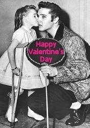 Rare Elvis Photo,Happy Valentines