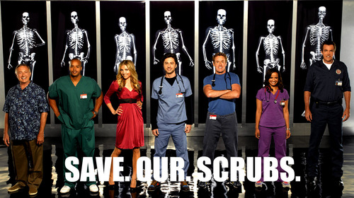 Save. Our. Scrubs.