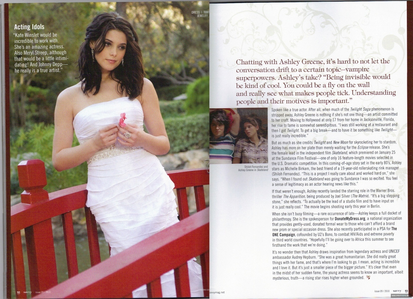 Scans of Ashley in Savvy Magazine