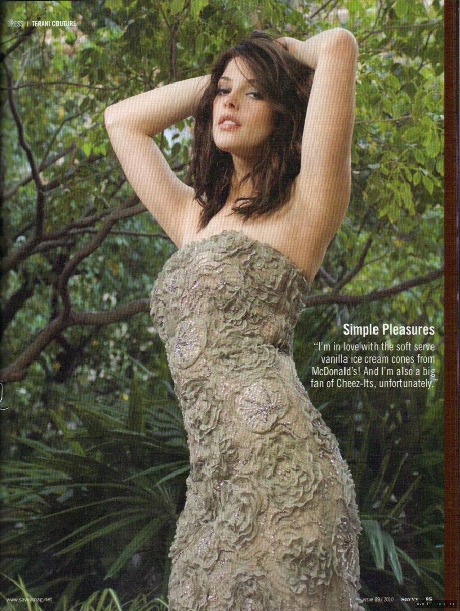 Scans of Ashley in Savvy Magazine