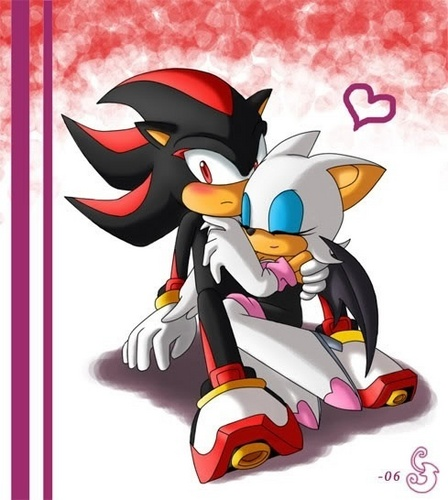 Shadow and Rouge cuddling