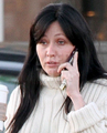 Shannen Doherty leaving Starbucks Coffee