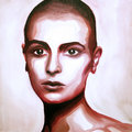 Sinéad O'Connor Oil Painting