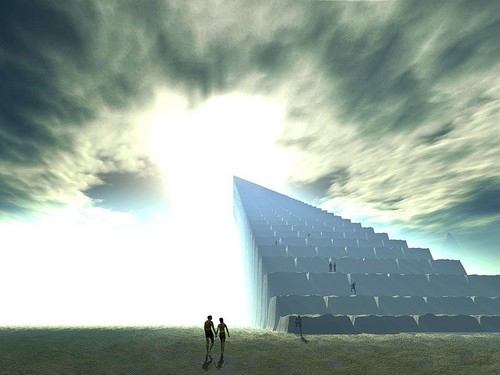 God-The creator Hintergrund titled Stairway To Heaven