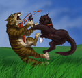 The death of Tigerstar - warrior-cats-of-the-clans photo