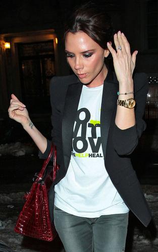 Victoria at NY Fashion Week