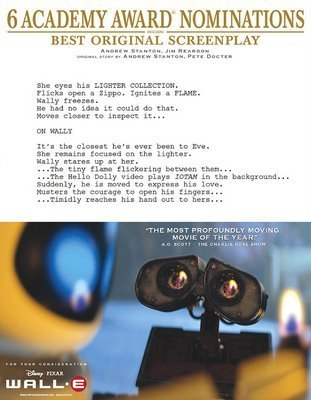 Pixar images WALL-E, Best Original Screenplay wallpaper and background photos