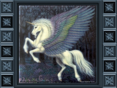 Unicorns wallpaper entitled Winged Beauty