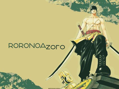 One Piece fond d'écran titled Zoro