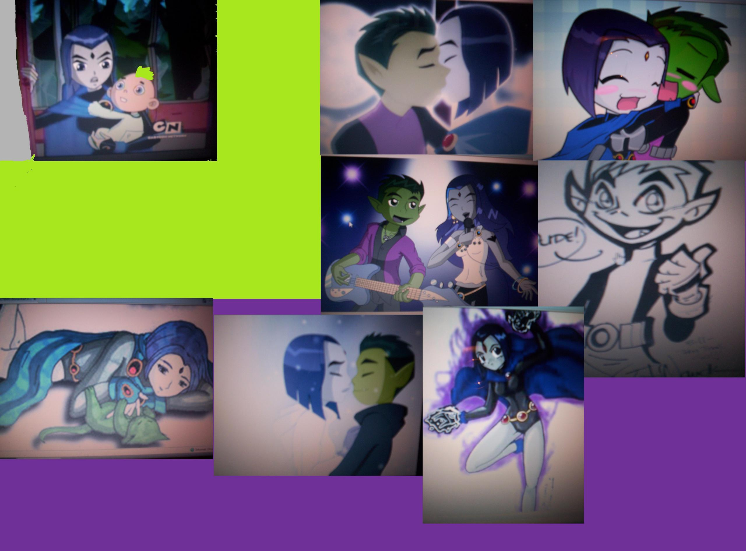 Teen Titans Bb And Raven Collage Picture I Made
