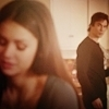 damon and elena 1x13 - the-vampire-diaries icon