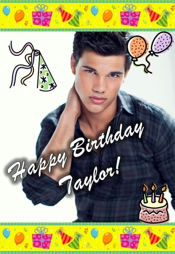 Taylor Lautner achtergrond called happy birthday taylor