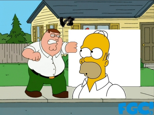 The Simpsons Vs Family Guy wallpaper titled homer vs peter