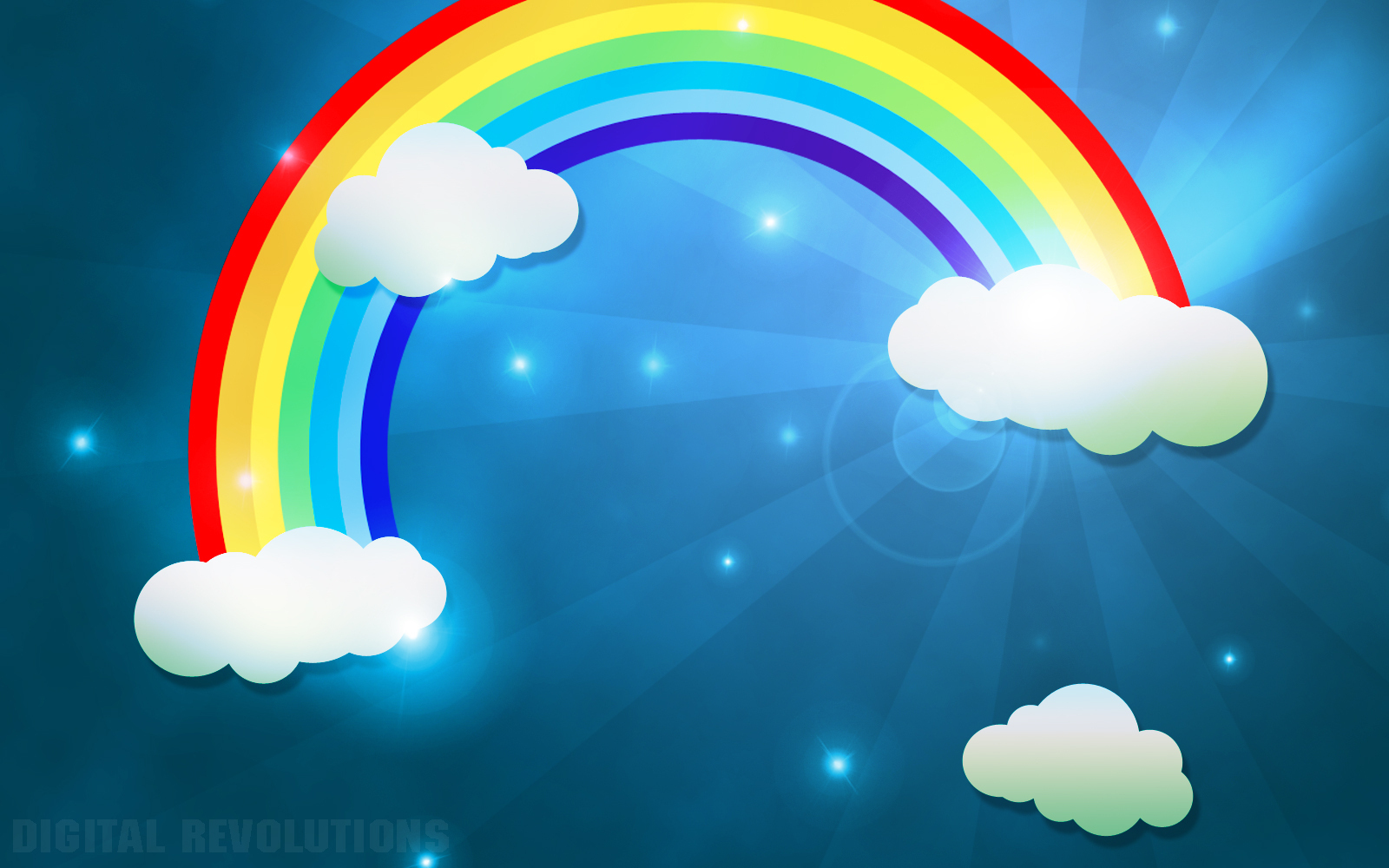 blue cloud with rainbow wallpaper - photo #4
