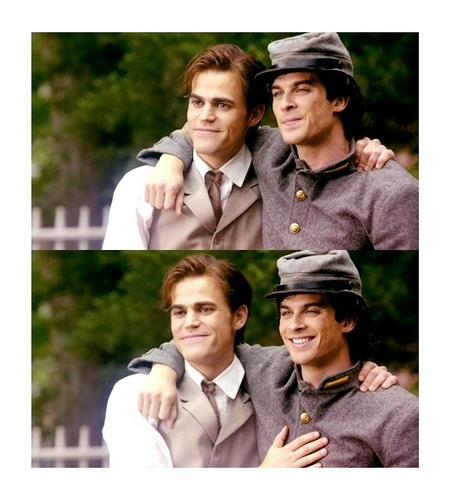 Damon and Stefan Salvatore پیپر وال called the salvatore brothers /1864/