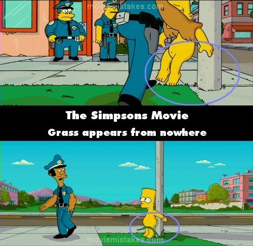 Les Simpsons fond d'écran titled 20 Biggest Mistakes In The Simpsons Movie