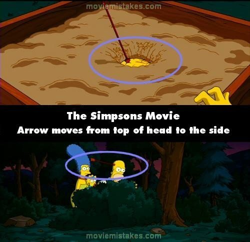 심슨 가족 바탕화면 called 20 Biggest Mistakes In The Simpsons Movie