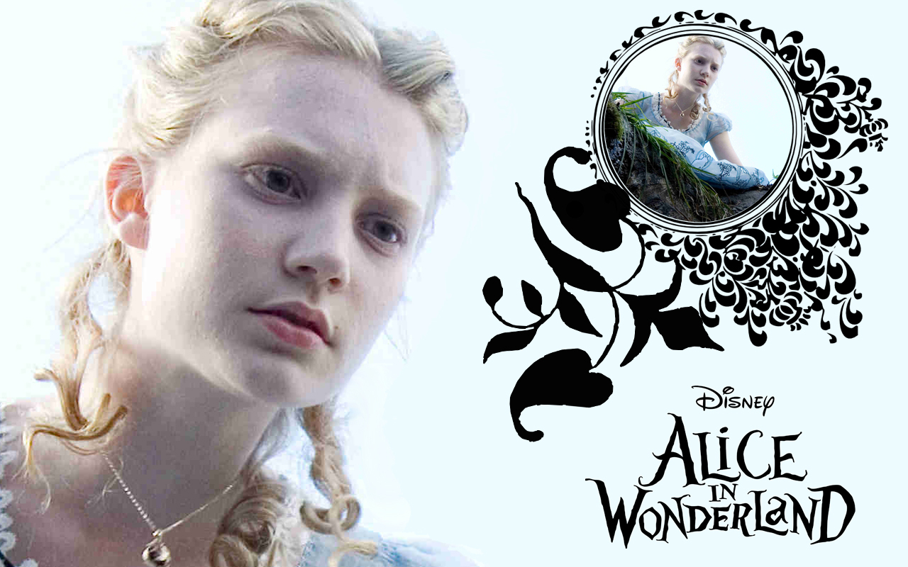 Wonderland (2010) Alice in Wonderland Wallpaper - Down the Rabbit Hole