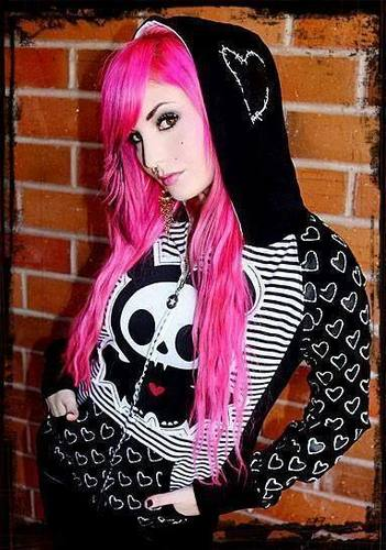 Audrey Kitching wearing Skelanimals hoodie