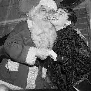Audrey and Santa