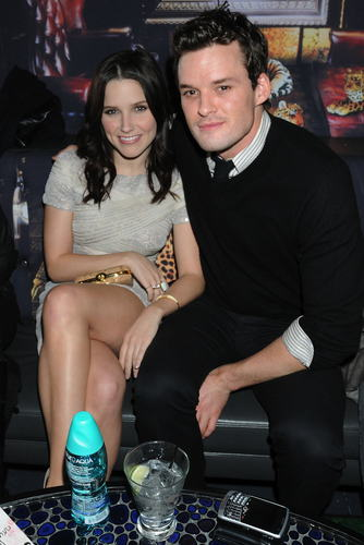 Austin Nicholls and Sophia belukar, bush at NY Fashion Week