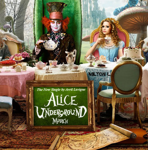 Alice in Wonderland (2010) wallpaper entitled Avril in Wonderland