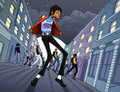 Beat it,Cartoon - michael-jackson photo