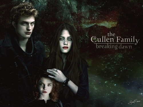 Bella, Edward, Renesmee चित्रो