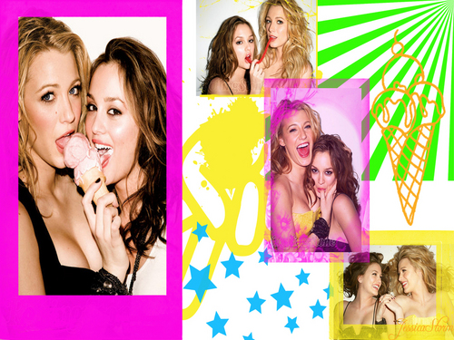Blair and Serena - serena-and-blair Wallpaper