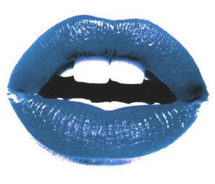 Lips wallpaper called Blue Lips