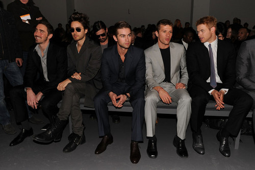 Chace Crawford - Calvin Klein Men's Collection- Front Row - Fall 2010