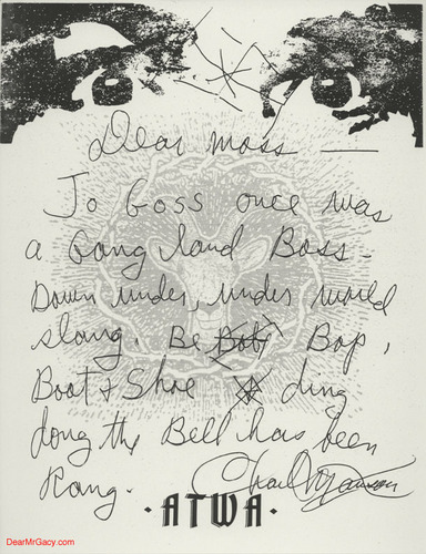 Charles Manson letters to Jason Moss with his Eyes