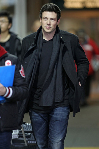 Cory Monteith at Vancouver International Airport