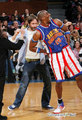 David with the Harlem Globe Trotters