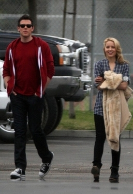 Dianna Agron - On Set of Glee February 9, 2010