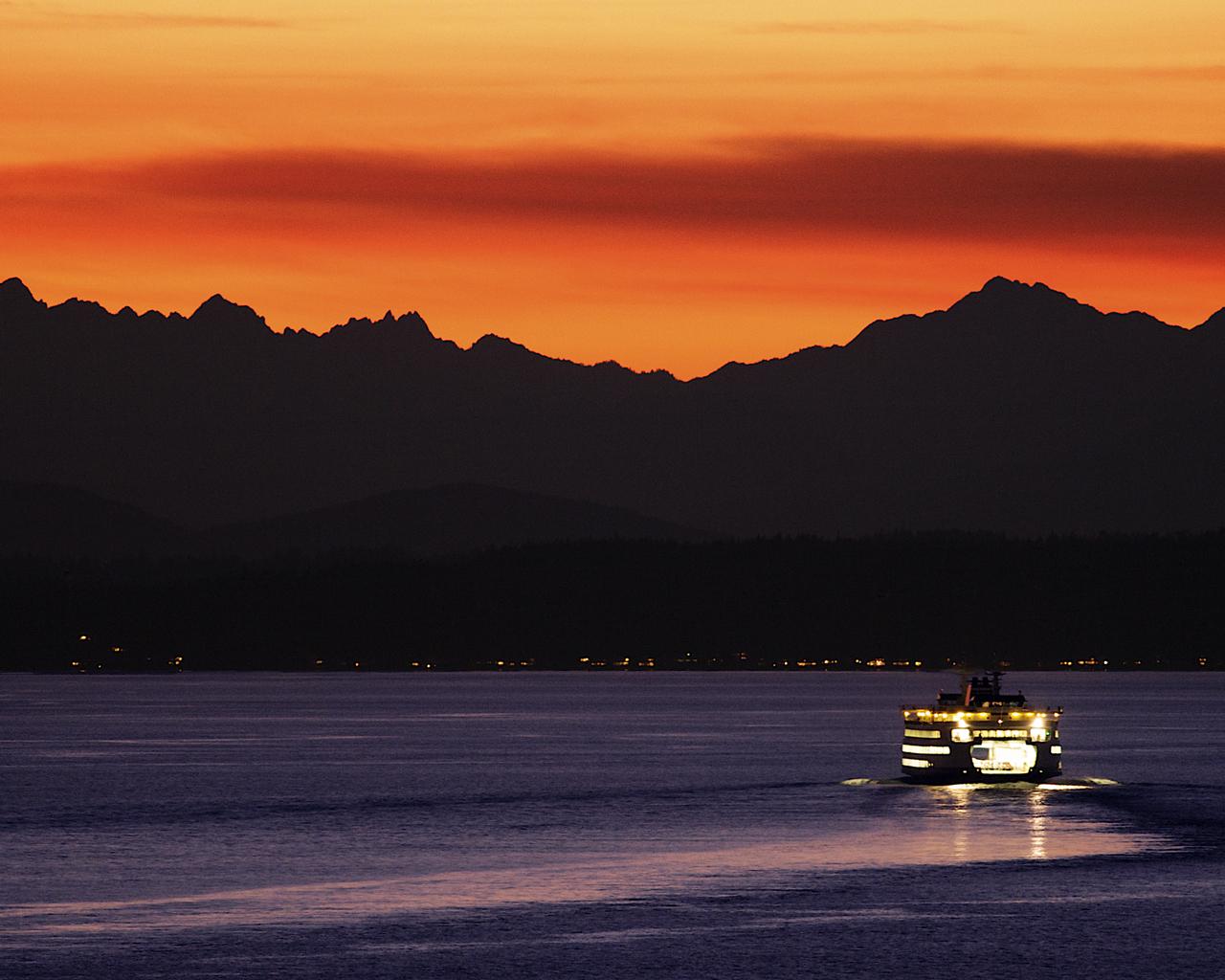 Elliott Bay Ferry in Seattle