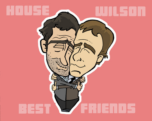 House M.D. kertas dinding called House and Wilson, BFF