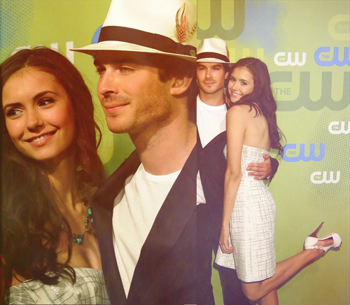 Ian Somerhalder e Nina Dobrev wallpaper entitled Ian & Nina picspam