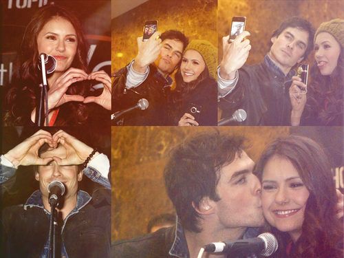Ian Somerhalder and Nina Dobrev wallpaper called Ian & Nina picspam
