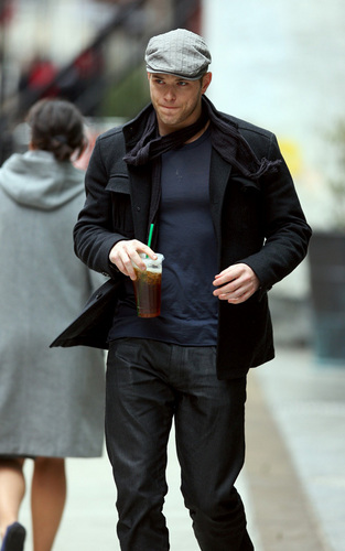 Kellan Lutz in NYC on 2/18