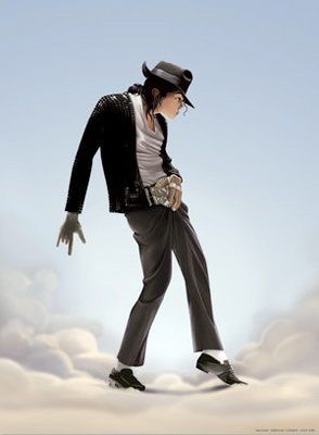 MJ on the cloud-Cartoon Style !