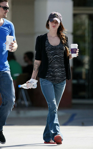Megan & Brian out in West Hollywood