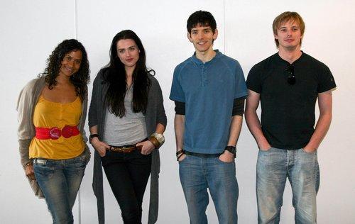 Merlin Cast at लंडन Expo 2008