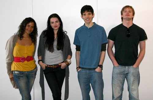 Merlin Cast at Londres Expo 2008